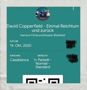 Kinokarte zum Film David Copperfield - einmal Reichtum und zurück